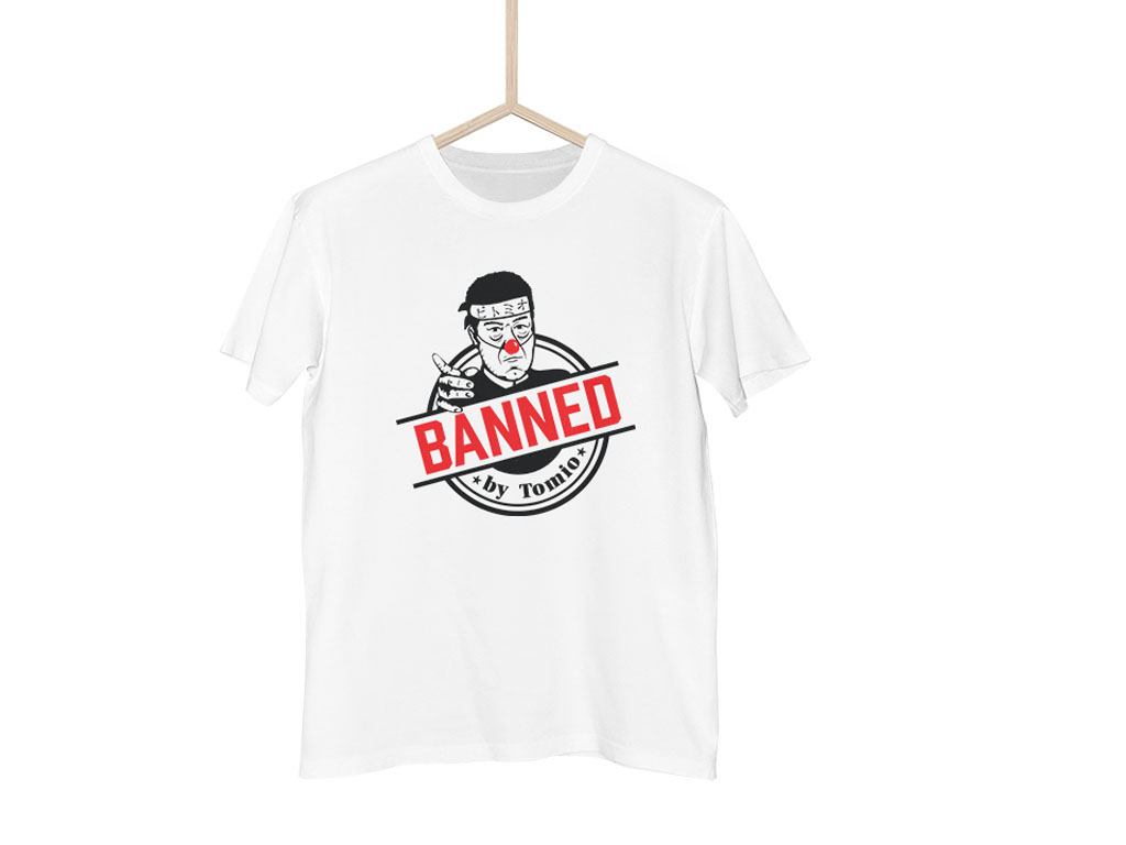 Bílé tričko BANNED japonská verze - M