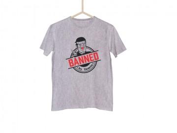 Šedé tričko BANNED japonská verze - XXL