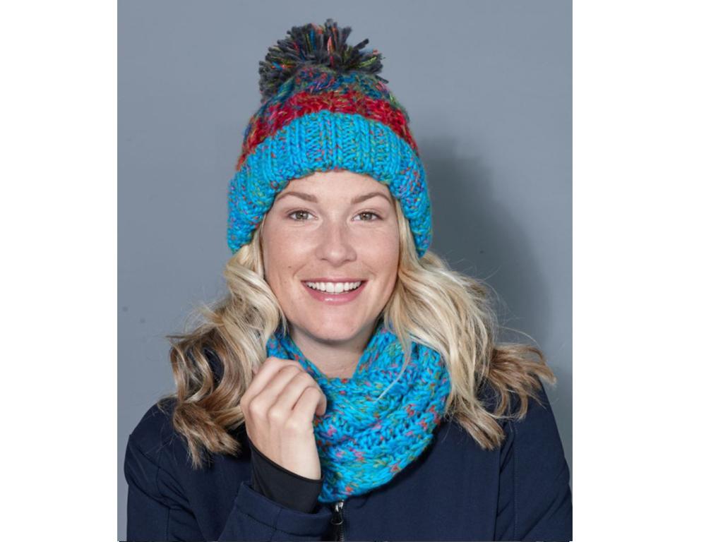 Krásná pletená šála nebo čepice