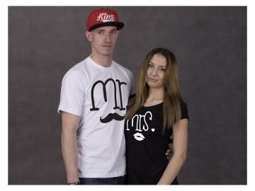 Trika  Mr&Mrs (čierne alebo biele)
