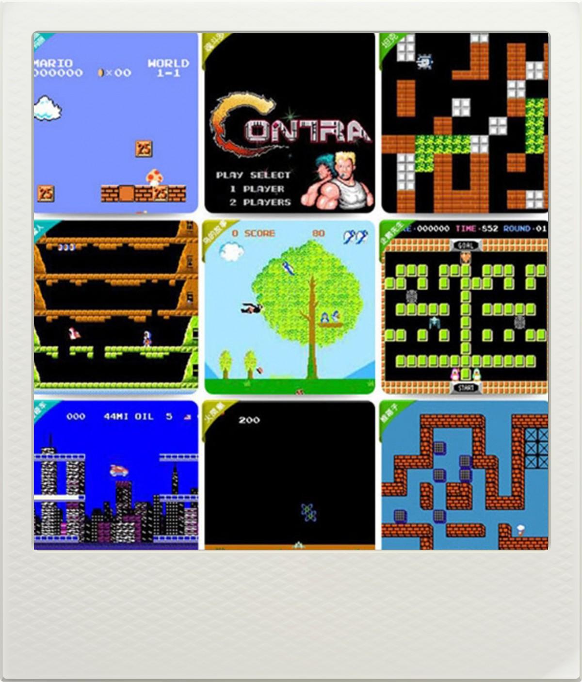 Retro 8 bitová herní konzole k TV