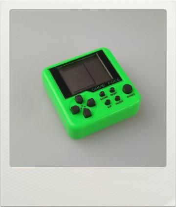 Mini herní konzole Tetris - 9 různých her - zelená