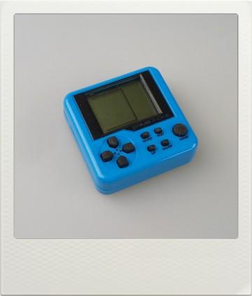 Mini herní konzole Tetris - 9 různých her - modrá