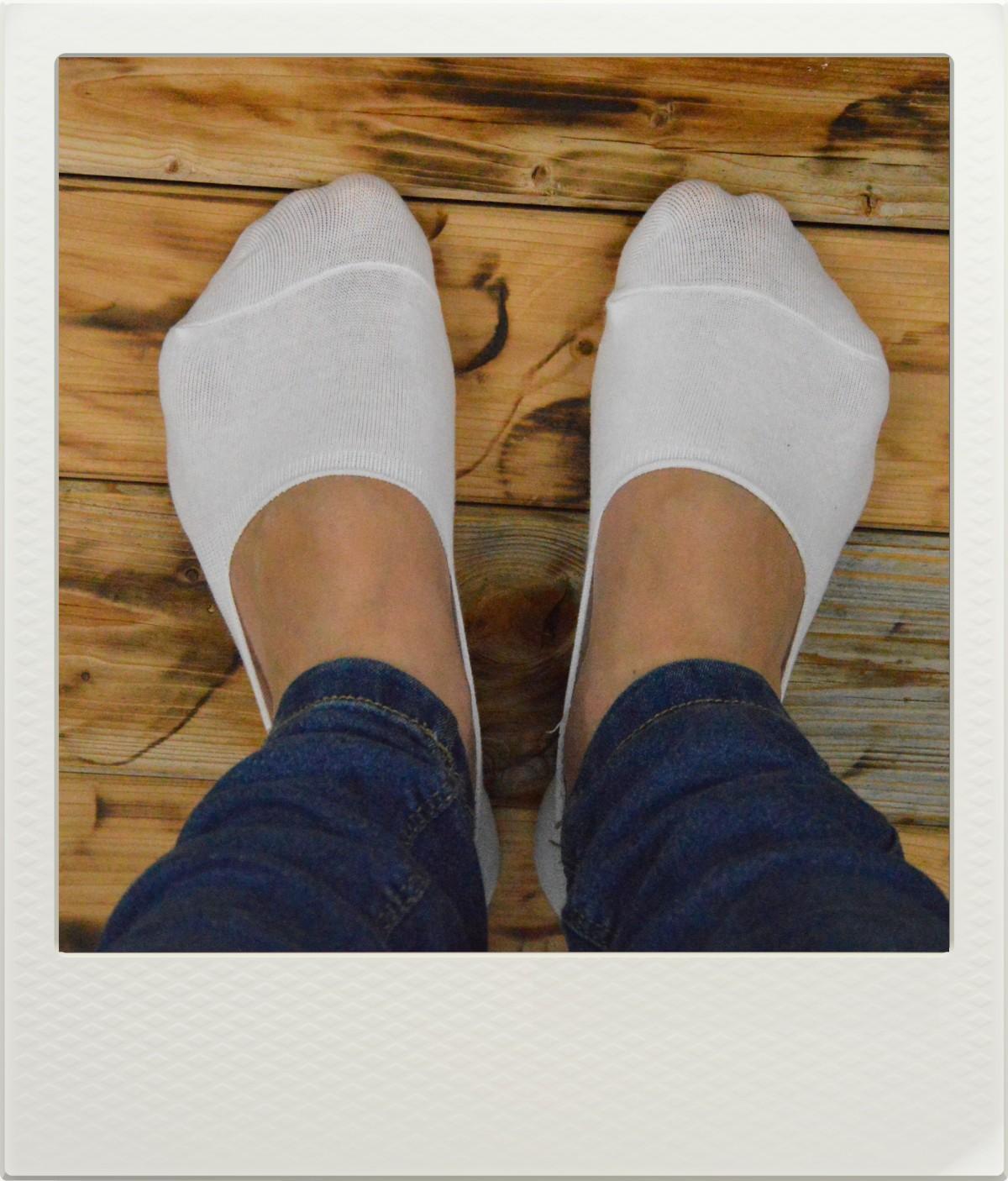 Ponožky Invisible White