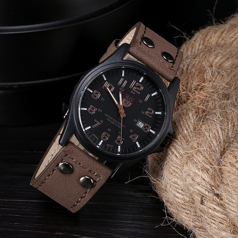 Klasické pánské hodinky kožené  1529bda5be
