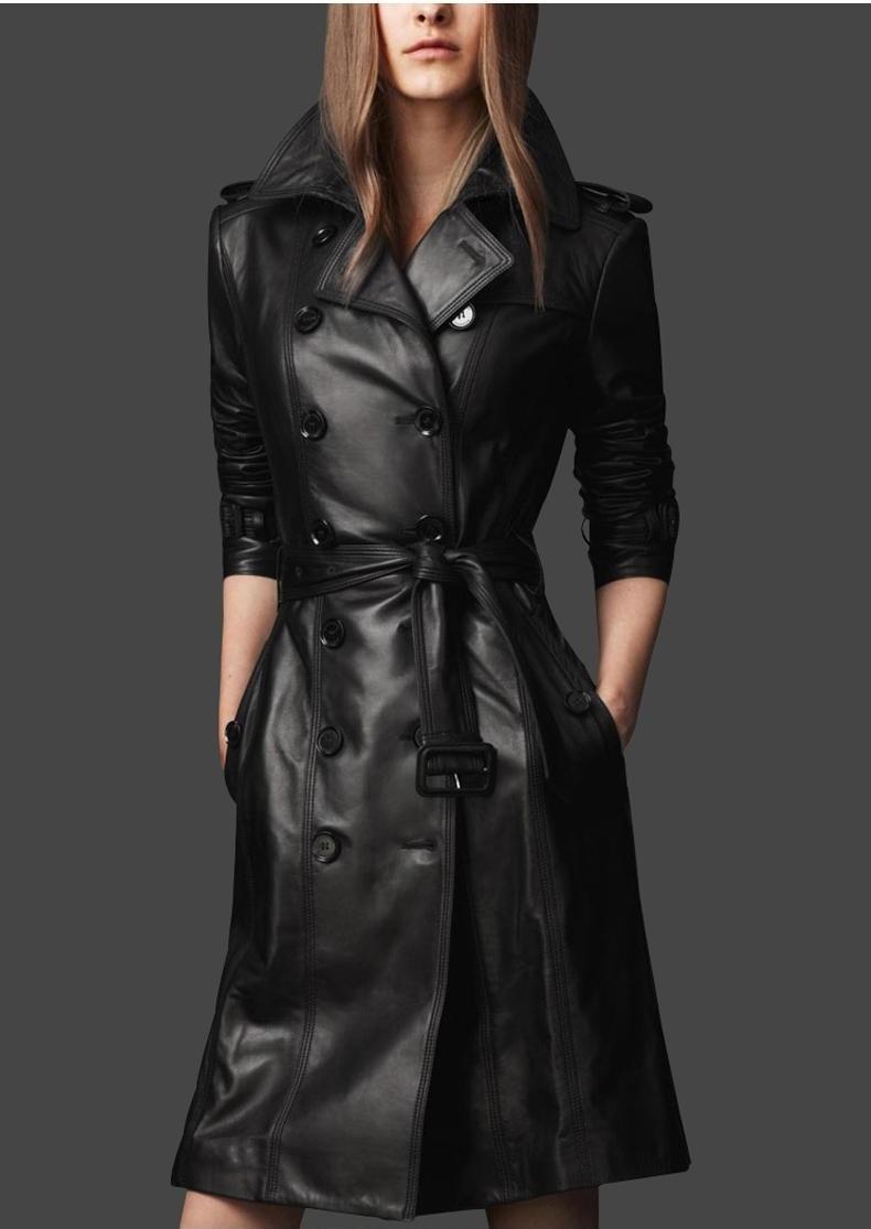 Dámský kožený kabát  66fc6065acb