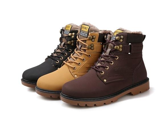 Kožené Pánské Zimní Boty Boots  c7261e2803