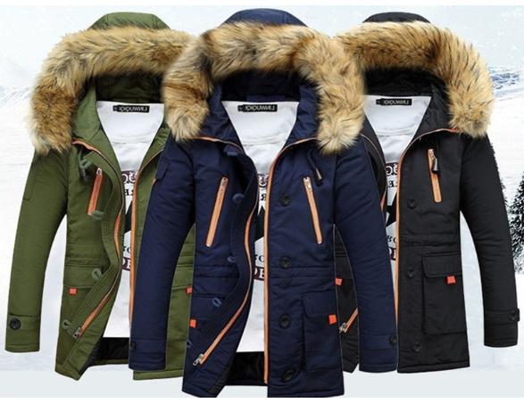 08e0b963d42a Pánská zimní bunda s kožíškem a kapucí