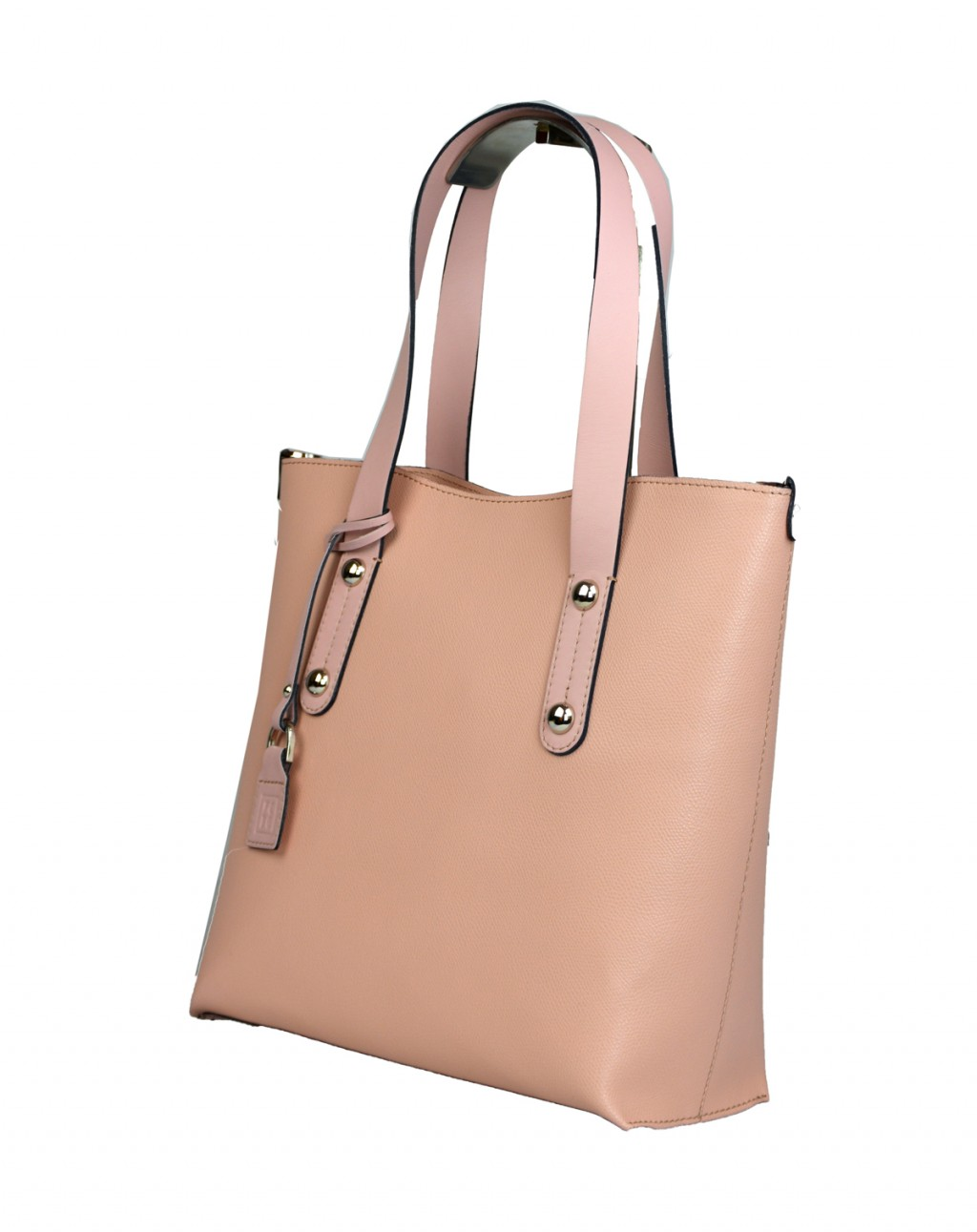 Dámská kožená kabelka FACEBAG IRENE - Růžová