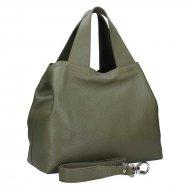 Dámská kožená kabelka FACEBAG SOFI - Tmavá zelená