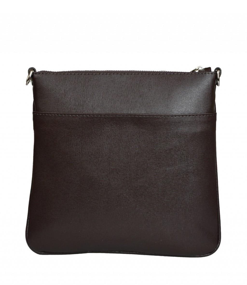 Dámská kožená kabelka FACEBAG VILMA -Tmavá hnědá