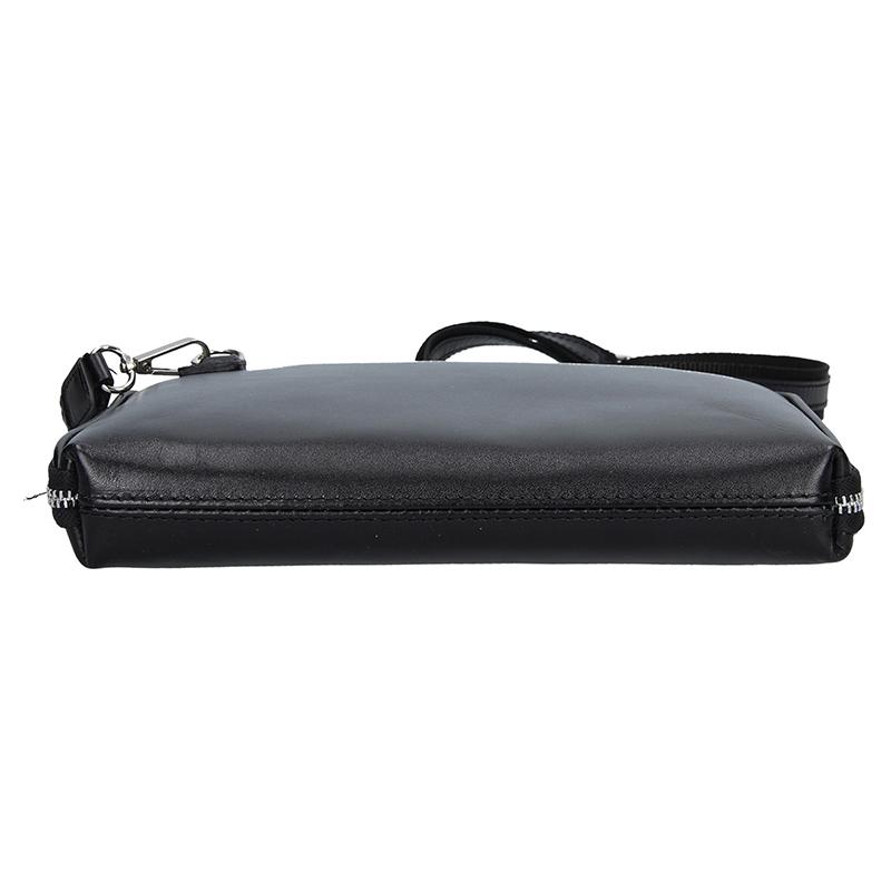 Dámská italská kožená kabelka NAZA - Černá