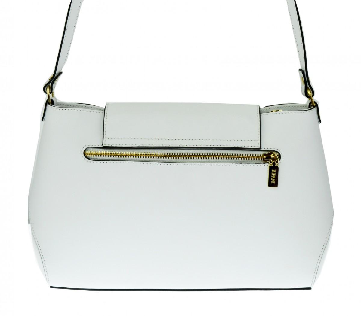 Dámská italská kožená kabelka RIPANI CANDY - Bílá