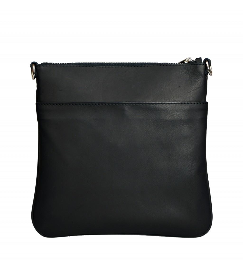 Dámská kožená kabelka FACEBAG VILMA - Černá