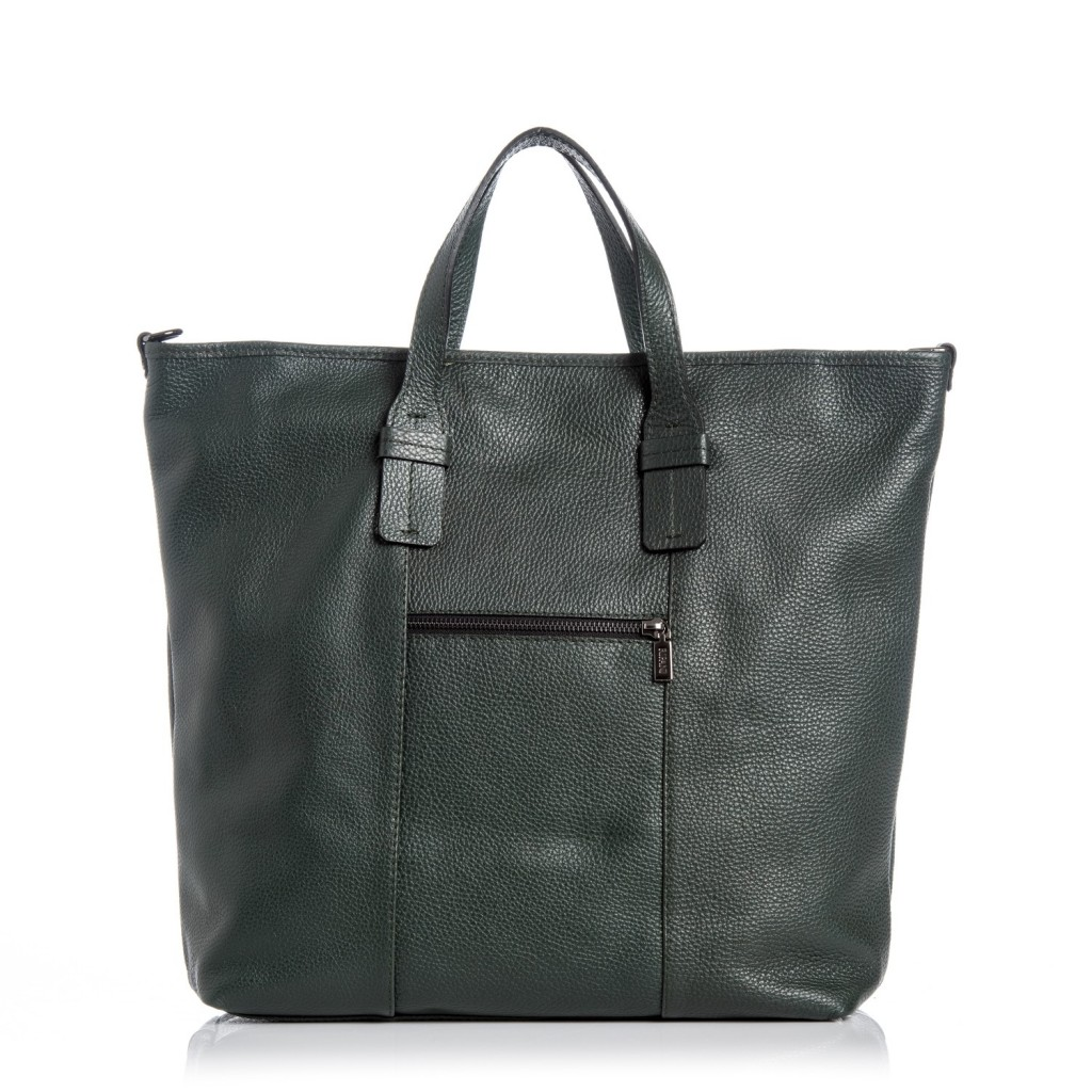 RIPANI Senape kabelka kožená - zelená