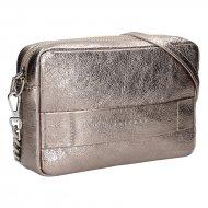 Dámská kožená kabelka FACEBAG NINA - Zlatá hladká