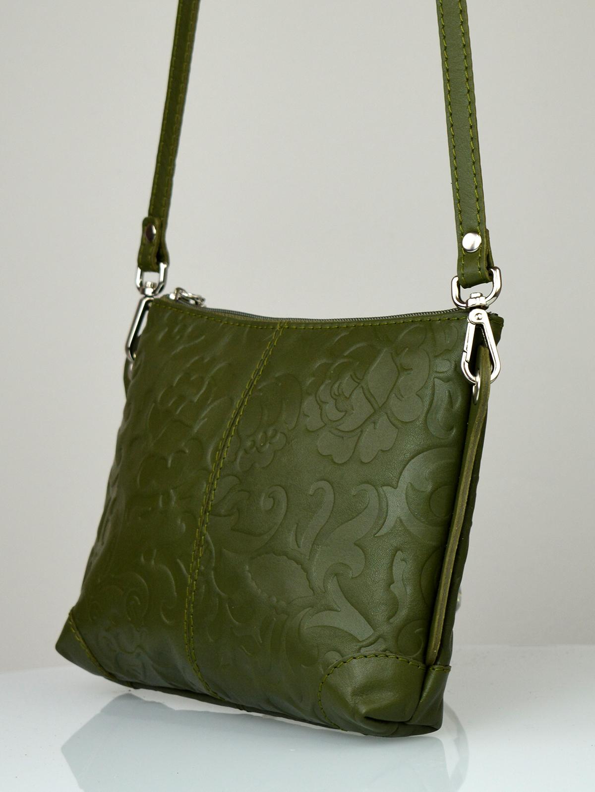 Dámská kožená kabelka FACEBAG - BABI zelená
