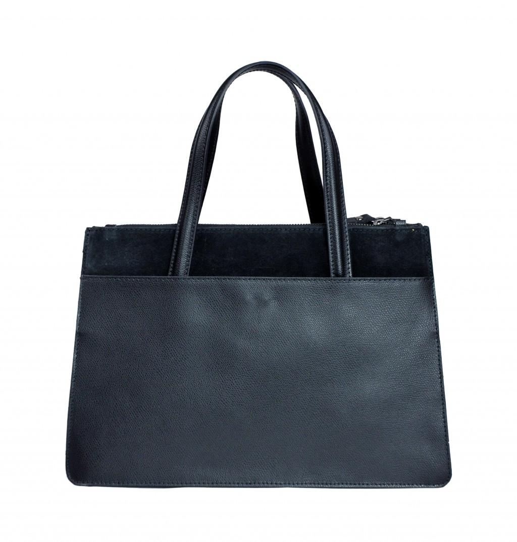 Italská kožená kabelka VALERIE - Černá