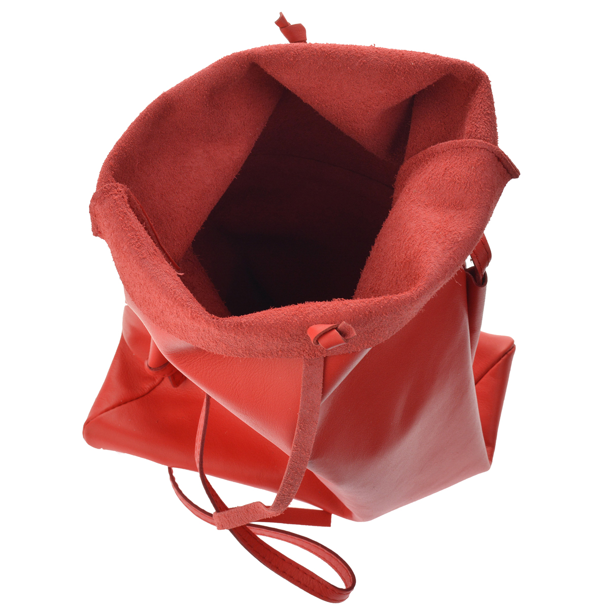 Dámská kožená kabelka FACEBAG NICOLA - Korálová