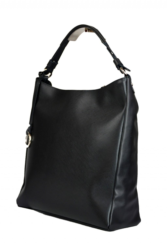 Dámská kožená kabelka FACEBAG  ELIA - Černá safiano