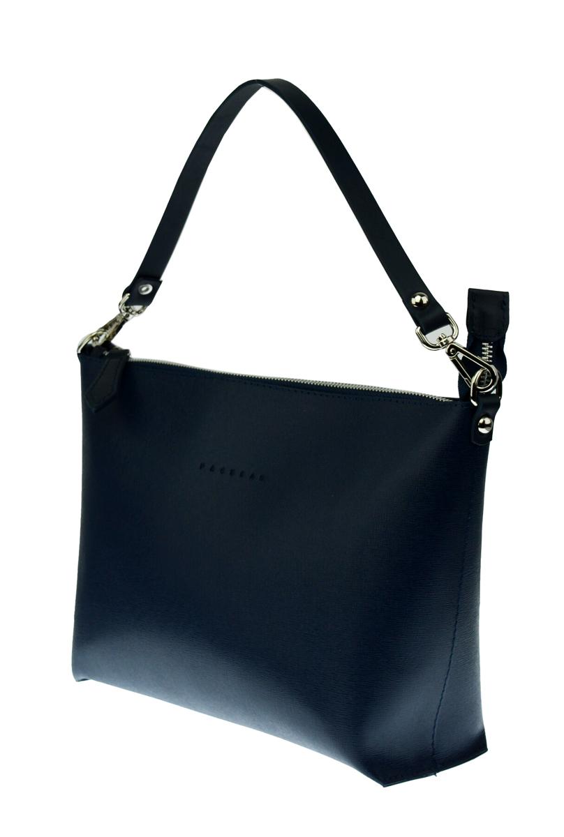Dámská kožená kabelka FACEBAG 2v1 CHERI 1 - Modrá