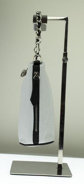 Dámská kožená kabelka FACEBAG EMMA I. - Bílá perfor + černá