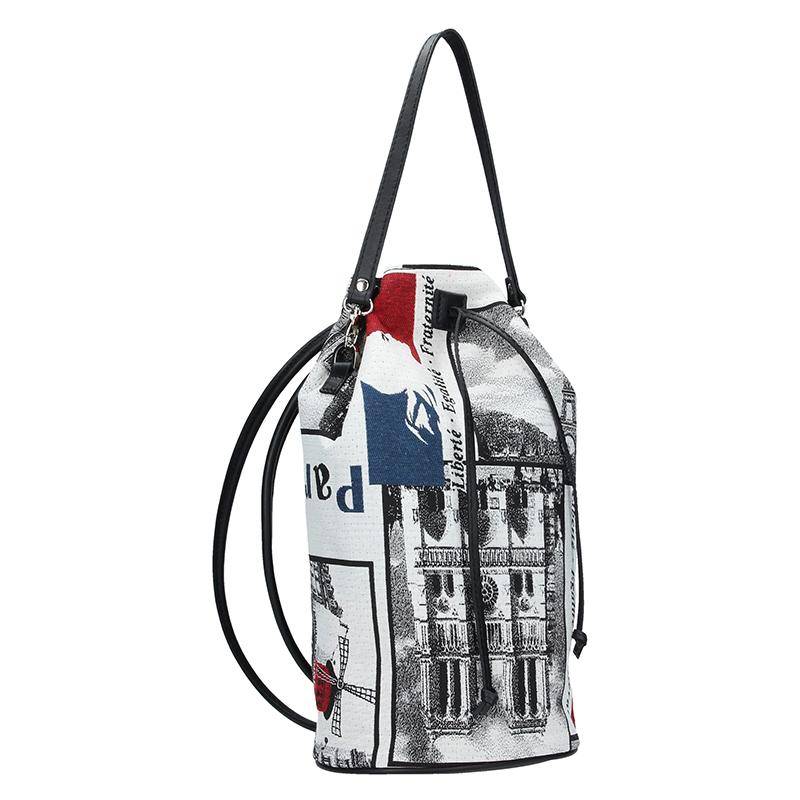 Dámský batoh FACEBAG SUZANNE - kombinace látky a kůže PARIS