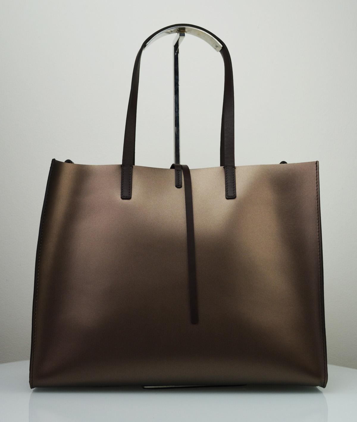 Dámská kožená kabelka FACEBAG CHERI - Bronzová