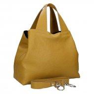 Dámská kožená kabelka FACEBAG SOFI - Tmavá žlutá