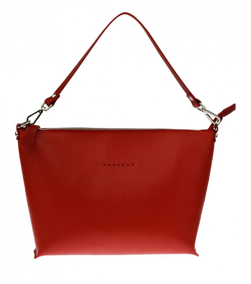 Dámská kožená kabelka FACEBAG 2v1 CHERI 1 - Červená
