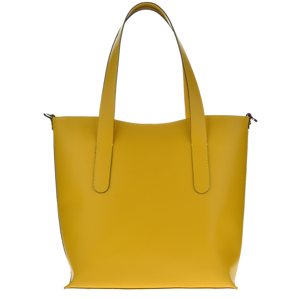 Dámská kožená kabelka FACEBAG IRENE - Žlutá