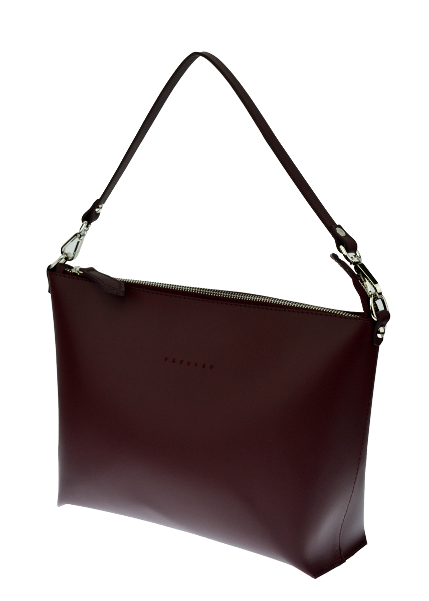 Dámská kožená kabelka FACEBAG 2v1 CHERI 1 - Vínová