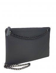 Elegantní dámská kožená kabelka FACEBAG ERIN - Tmavá šedá *dolaro*