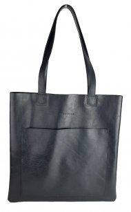 Dámská kožená kabelka FACEBAG ELSA 1 - Černá hladká