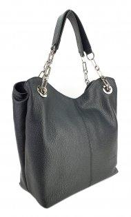 Dámská kožená kabelka FACEBAG AGATA - Černá *dolaro*