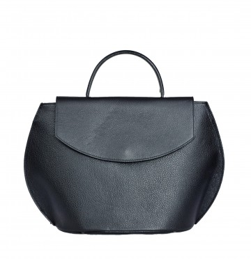 Italská kožená kabelka Patricie - Černá