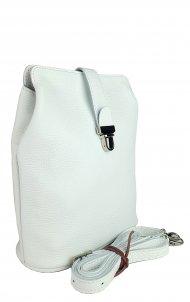 Dámská kožená kabelka FACEBAG ANNA - Bílá *dolaro*