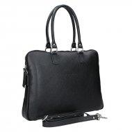 Dámská kožená kabelka FACEBAG GAYA - Černá *dolaro* s dlouhými uchy