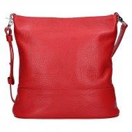 Dámská kožená kabelka FACEBAG FUDA - Červená *dolaro*