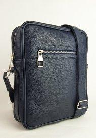Pánská kožená taška FACEBAG MARTIN - Tmavá modrá *dolaro*