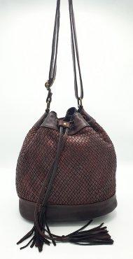 Kožená kabelka 3189 vínová vintage