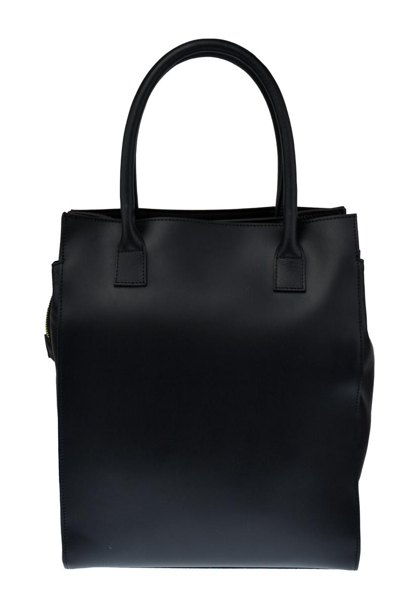 Dámská italská kožená kabelka GENA - Černá
