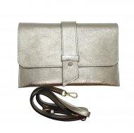 Dámská italská kožená kabelka 6176 HR - Zlatá