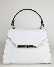 Elegantní dámská italská kožená kabelka RIPANI 9201 JF 027 CARA - Bílá se vzorem