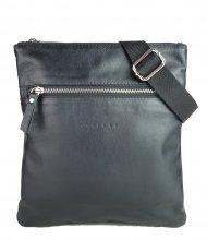 Pánská kožená taška FACEBAG JOSE - Černá hladká