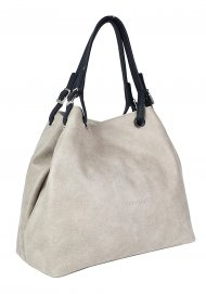 Luxusní dámská kožená kabelka FACEBAG LAURA - Béžová *vintage*
