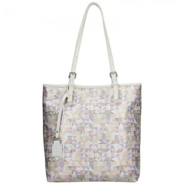 Dámská kožená kabelka FACEBAG VICTORIA - Mozaika