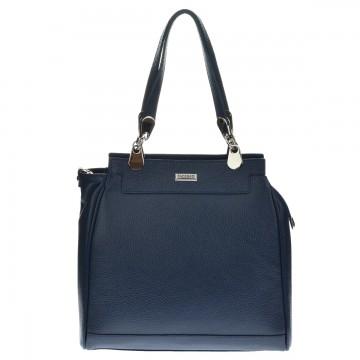 Dámská kožená kabelka FACEBAG TORRINA - Tmavá modrá