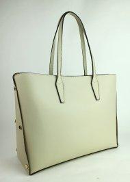 Dámská italská kožená kabelka 5707 - Béžová *ruga*