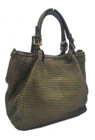 Kožená kabelka 2159 zelená vintage